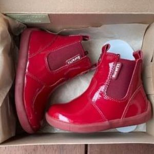 Toddler Super Fit Leather Red Boots - NEW